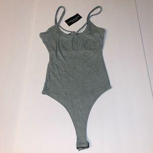 Fashion Nova Ribbed Bodysuit X-Small